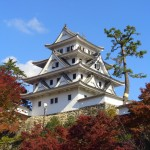 Gujo_hachiman_castle_in_autumn_Wikipedia_by_サウンドセッション
